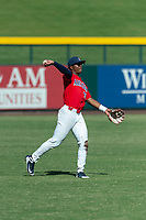 Arizona Wildcats left fielder Matt Frazier (22) during an NCAA exhibition game against Cal State Fullerton Titans at Sloan Park on October 28, 2018 in Mesa, Arizona. (Zachary Lucy/Four Seam Images)