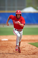 Philadelphia Phillies Zach Coppola  (16) during a minor league Spring Training game against the Toronto Blue Jays on March 26, 2016 at Englebert Complex in Dunedin, Florida.  (Mike Janes/Four Seam Images)
