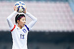 Korea Republic plays against Thailand during the AFC U-16 Women's Championship China 2015 Group A match at the  Xinhua Road Stadium on 06 November 2015 in Wuhan, China. Photo by Aitor Alcalde / Power Sport Images