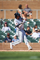 Salt River Rafters Royce Lewis (9), of the Minnesota Twins organization, at bat during the Arizona Fall League Championship Game against the Surprise Saguaros on October 26, 2019 at Salt River Fields at Talking Stick in Scottsdale, Arizona. The Rafters defeated the Saguaros 5-1. (Zachary Lucy/Four Seam Images)