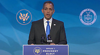 """United States Deputy Secretary of Commerce Don Graves makes remarks after being introduced by US President-elect Joe Biden following his remarks introducing """"key members of his economic and jobs team"""" from the Queen Theatre in Wilmington, Delaware on Friday, January 8, 2021. <br /> Credit: Biden Transition TV via CNP /MediaPunch<br /> CAP/MPI/RS<br /> ©RS/MPI/Capital Pictures"""