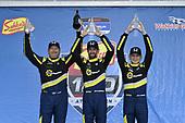 #84: Atlanta Speedwerks Honda Civic FK7 TCR, TCR: Brian Henderson, Robert Noaker, Todd Lamb, victory lane, celebration, podium
