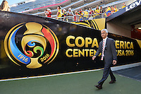 Santa Clara, CA - Friday June 03, 2016: United States Soccer Federation (USSF) president Sunil Gulati prior to a Copa America Centenario Group A match between United States (USA) and Colombia (COL) at Levi's Stadium.