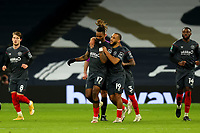 5th January 2021; Tottenham Hotspur Stadium, London, England; English Football League Cup Football, Carabao Cup, Tottenham Hotspur versus Brentford; Ivan Toney of Brentford celebrates his goal with team mates but it is ruled offside by VAR