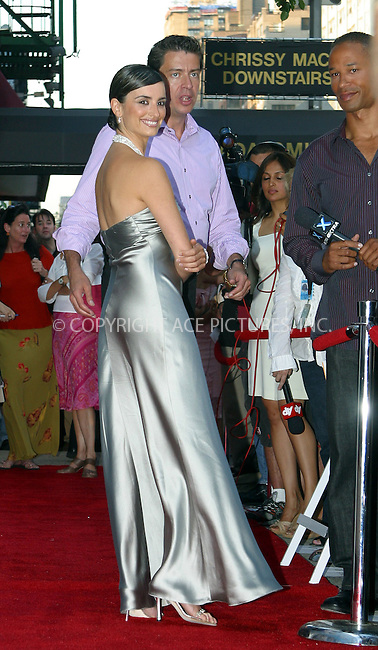 """Penelope Cruz at the premiere of her new movie """"Don't Tempt Me"""" in New York. August 19, 2003. Please byline: NY Photo Press.   ..*PAY-PER-USE*      ....NY Photo Press:  ..phone (646) 267-6913;   ..e-mail: info@nyphotopress.com"""