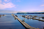 Clallam Bay, near the west end of the Strait of Juan de Fuca and the fishing community of Sekiu. Olympic Penninsula, Washington. The fishing community of Sekiu anchors the bay.   Outdoor Adventure. Olympic Peninsula