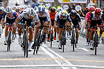 Peter Sagan (SVK) Bora-Hansgrohe outsprints Daryl Impey (RSA) Israel Start-Up Nation and Juan Sebastian Molano (COL) UAE Team Emirates to win Stage 6 of the 100th edition of the Volta Ciclista a Catalunya 2021, running 193.8km from Tarragona to Mataro', Spain. 27th March 2021.   <br /> Picture: Bora-Hansgrohe/Luis Angel Gomez/BettiniPhoto | Cyclefile<br /> <br /> All photos usage must carry mandatory copyright credit (© Cyclefile | Bora-Hansgrohe/Luis Angel Gomez/BettiniPhoto)