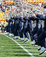Penn State marching band. The Pitt Panthers defeated the Penn State Nittany Lions 42-39 at Heinz Field, Pittsburgh, Pennsylvania on September 10, 2016.