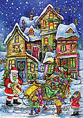 Interlitho-Dani, CHRISTMAS SANTA, SNOWMAN, WEIHNACHTSMÄNNER, SCHNEEMÄNNER, PAPÁ NOEL, MUÑECOS DE NIEVE, paintings+++++,crooked house,KL6173,#x#