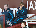 31/10/2009  Copyright  Pic : James Stewart.sct_jspa22_motherwell_v_hearts  . :: HEARTS CAPTAIN MICHAEL STEWART WATCHES FROM THE SIDELINES :: .James Stewart Photography 19 Carronlea Drive, Falkirk. FK2 8DN      Vat Reg No. 607 6932 25.Telephone      : +44 (0)1324 570291 .Mobile              : +44 (0)7721 416997.E-mail  :  jim@jspa.co.uk.If you require further information then contact Jim Stewart on any of the numbers above.........