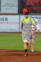 """The Ogden Raptor """"drag queens"""" are on the field between innings as the Raptors faced the Great Falls Voyagers at Lindquist Field on August 16, 2013 in Ogden Utah.  (Stephen Smith/Four Seam Images)"""