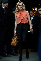 Britains Got Talent judges leaving the Balmoral Hotel and head for the Festival Theatre, Edinburgh, Scotalnd, 11th February, 2012 Pictured Amanda Holden.Picture:Scott Taylor Universal News And Sport (Europe) .All pictures must be credited to www.universalnewsandsport.com. (Office)0844 884 51 22.