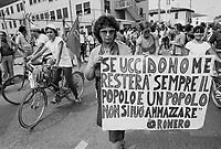 - peace march Vicenza - Longare against the installation of nuclear USA missiles  in Italy....- marcia della pace Vicenza - Longare contro l'installazione di missili nucleari USA in Italia..