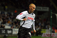 ATTENTION SPORTS PICTURE DESK<br /> Pictured: David Cotterill of Swansea City in action <br /> Re: Coca Cola Championship, Swansea City Football Club v Plymouth Argyle at the Liberty Stadium, Swansea, south Wales. Tuesday 08 December 2009