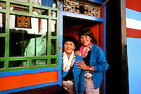 Girls in Sakya, Tibet