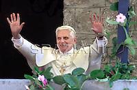 Angelus Mirabello castle in Lorenzago di Cadore,Benedict XVI , Italy, July 15, 2007