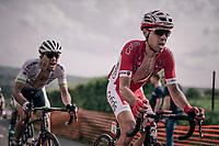 Nicolas Edet (FRA/Cofidis) up La Redoute<br /> <br /> 104th Liège - Bastogne - Liège 2018 (1.UWT)<br /> 1 Day Race: Liège - Ans (258km)