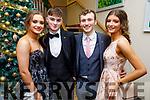 Ciara McCarthy, Joe O'Brien, Sean Gannon and Dana Mariakri attending the Mercy Mounthawk Debs in the Ballyroe Heights Hotel on Friday.