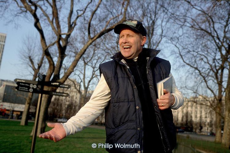 A born again evangelical Christian preacher at Speakers' Corner, Hyde Park, London.
