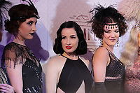 Dita Von Teese pose for photographers on the red carpet of the Olympia de Montreal, before the Dita Von Teese Lavender May and friends'  Grand Cabaret, Sunday February 21, 2016.<br /> <br /> Photo :  Raffi Kirdi<br /> l - Agence Quebec Presse