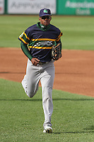 Beloit Snappers outfielder James Harris (2) during a Midwest League game against the Wisconsin Timber Rattlers on May 30th, 2015 at Fox Cities Stadium in Appleton, Wisconsin. Wisconsin defeated Beloit 5-3 in the completion of a game originally started on May 29th before being suspended by rain with the score tied 3-3 in the sixth inning. (Brad Krause/Four Seam Images)