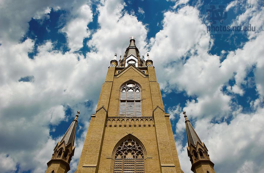 Apr. 30, 2011; Basilica of the Sacred Heart steeple...Photo by Matt Cashore/University of Notre Dame