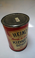 COPY BY TOM BEDFORD<br /> Pictured: The Heinz can of kidney soup donated to Cardiff Foodbank<br /> Re: A tin of Heinz kidney soup dating back nearly 50 years has been donated to a food bank.<br /> The tin, which at 10 pence would have set you back just shy of a shilling, was collected by Cardiff Foodbank.<br /> The particular brand of soup was discontinued by Heinz more than 35 years ago and the price label indicates it was first sold before 1971.<br /> Cardiff Foodbank said it was the oldest item it has ever received.