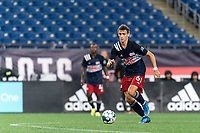 FOXBOROUGH, MA - SEPTEMBER 1: Noel Buck #61 of New Englans Revolution II brings the ball forward during a game between FC Tucson and New England Revolution II at Gillette Stadium on September 1, 2021 in Foxborough, Massachusetts.
