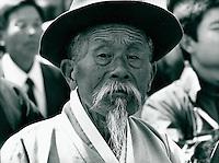 Koreaner in traditioneller Kleidung,Sunchon,  Korea 1977