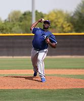 DeMarcus Evans - Texas Rangers 2021 spring training (Bill Mitchell)
