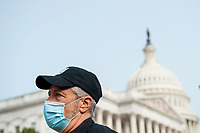 Comedian Jon Stewart, talks with reporters prior to a press conference regarding legislation to assist veterans exposed to burn pits, outside the US Capitol in Washington, DC., Tuesday, September 15, 2020. <br /> Credit: Rod Lamkey / CNP /MediaPunch