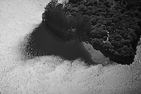 aerial view above wind shadow San Francisco bay edge