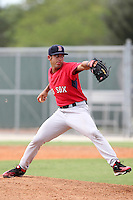 Boston Red Sox pitcher Matt Spalding #86 during an Instructional League game against the Minnesota Twins at Red Sox Minor League Training Complex in Fort Myers, Florida;  October 3, 2011.  (Mike Janes/Four Seam Images)