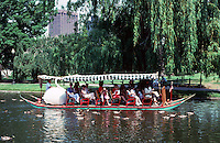 Boston:  Public Garden--Swan Boat.  Photo '88.
