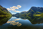 Mountain reflection in Norway