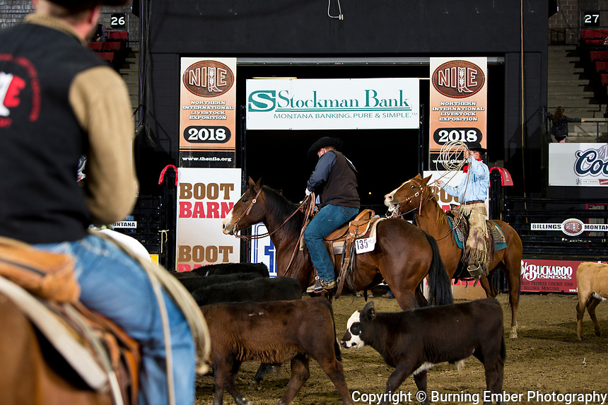 Horse Creek Hay & Cattle in the Branding Event at the NILE Ranch Rodeo Finals. October 13th, 2018.  Photo by Josh Homer/Burning Ember Photography.  Photo credit must be given on all uses.