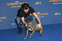 "Tom Holland and his dog, Tessa<br /> at the ""Spider-Man:Homecoming"" photocall at the Ham Yard Hotel, London. <br /> <br /> <br /> ©Ash Knotek  D3281  15/06/2017"