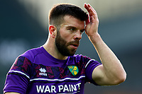 7th November 2020; Carrow Road, Norwich, Norfolk, England, English Football League Championship Football, Norwich versus Swansea City; Grant Hanley of Norwich City during the warm up