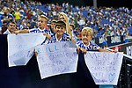 Real Sociedad's supporters during La Liga match. August 24, 2018. (ALTERPHOTOS/A. Perez Meca)