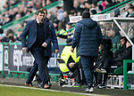 Hibs v St Johnstone…18.11.17…  Easter Road…  SPFL<br />Tommy Wright goes nuts after ref Craig Thomson doesn't give a free kick for a foul on Michael O'Halloran<br />Picture by Graeme Hart. <br />Copyright Perthshire Picture Agency<br />Tel: 01738 623350  Mobile: 07990 594431