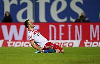 26.11.2017, Football 1. Bundesliga 2017/2018, 13. Match Day, Hamburger SV - TSG 1899 Hoffenheim, im Volksparkstadion Hamburg.  Jubel Torschuetze Filip Kostic (Hamburg) celebrates scoring to 2:0 *** Local Caption *** © pixathlon +++ tel. +49 - (040) - 22 63 02 60 - mail: info@pixathlon.de<br /> <br /> +++ NED + SUI out !!! +++