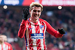 Atletico de Madrid Antoine Griezmann celebrating a goal during La Liga match between Atletico de Madrid and Leganes at Wanda Metropolitano Stadium in Madrid , Spain. February 28, 2018. (ALTERPHOTOS/Borja B.Hojas)