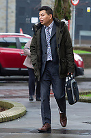 Pictured: Wai Chim outside Cardiff magistrates court in Cardiff, Wales, UK. Thursday 13 February 2020<br /> Re: A Chinese restaurant is facing possible closure after complaints about the smells coming from the kitchen by a judge who lives nearby. Lord Justice Sir Gary Hickingbottom, 64, said the aromas from The Summer Palace were wafting into their £525,000 home near Llanfaff Cathedral, Cardiff. The local council has upheld the complaint meaning the restaurant, which has been there for 30 years, is facing court action.
