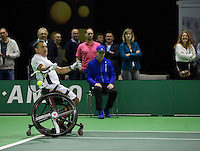 Februari 13, 2015, Netherlands, Rotterdam, Ahoy, ABN AMRO World Tennis Tournament, Stephane Houdet (FRA)<br /> Photo: Tennisimages/Henk Koster