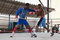 Cuba, Havana.  Boxing Practice, Old Havana.