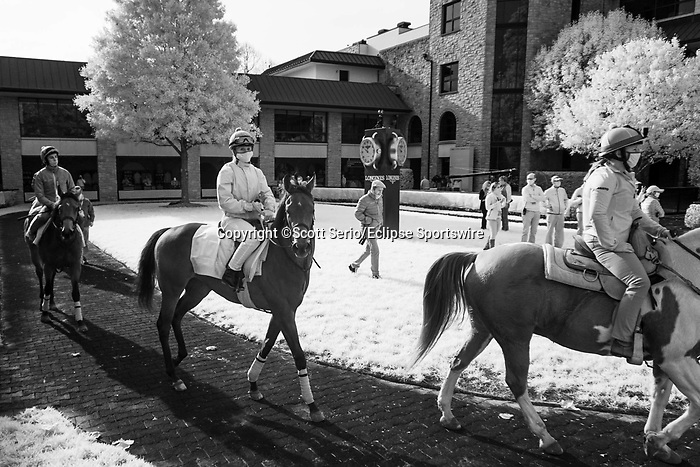 November 6, 2020: Moments around the paddock before Future Stars Friday racing begins at Keeneland Racetrack in Lexington, Kentucky, on Friday, November 6, 2020. Scott Serio/Eclipse Sportswire/Breeders Cup/CSM