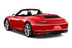 Car pictures of rear three quarter view of a 2017 Porsche 911 Carrera 2 Door Convertible angular rear