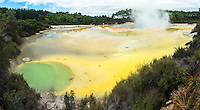 Artist's Palette in Wai-O-Tapu Thermal Wonderland, Rotorua Region, Central Plateau, North Island, New Zealand, NZ