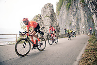 Laurens ten Dam (NED/CCC) descending fast in the approach towards the Madonna del Ghisallo (754m) in his very last race as a pro<br /> <br /> 113th Il Lombardia 2019 (1.UWT)<br /> 1 day race from Bergamo to Como (ITA/243km)<br /> <br /> ©kramon