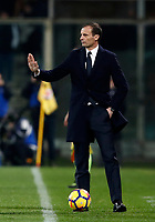 Calcio, Serie A: Fiorentina - Juventus, stadio Artemio Franchi Firenze 9 febbraio 2018.<br /> Juventus' coach Massimiliano Allegri gestures during the Italian Serie A football match between Fiorentina and Juventus at Florence's Artemio Franchi stadium, February 9, 2018.<br /> UPDATE IMAGES PRESS/Isabella Bonotto
